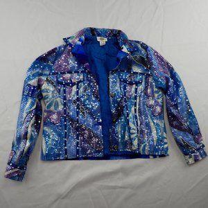 Sandy Starkman Sequined  Embellished  Denim Jacket